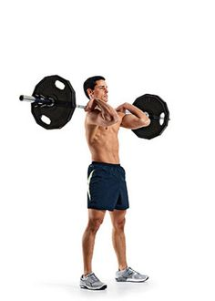 Barbell Front Squat to Push Press Exercise