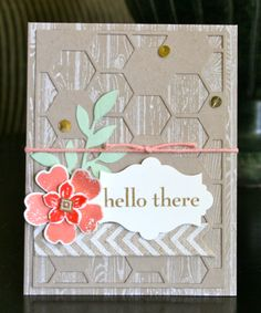 Stampin' Up! Card by Krystal's Cards and More: Hello There Hexagon Hive