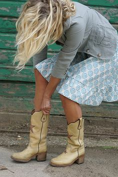Love the boots...& skirt. Ok & the top