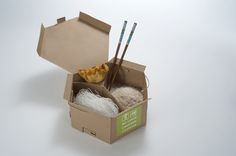 Eco chic!  Packaging of the World: Creative Package Design Archive and Gallery: Eco-Friendly Chinese Take-Out