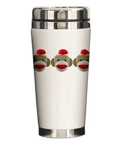 Sock Monkey Travel Mug