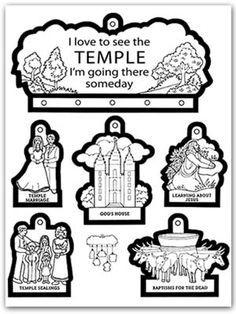 "A Year of FHE: Temples  Yay!  Lindsey loves the ""temple song"""