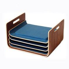 Seating trays by Tanya Aguiniga