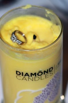 I thought this was a joke, but apparently it's legit. Every candle has a diamond ring in it. I want one! They last about 140 hours, and, I mean, it's a diamond ring, in a candle. It's WAY more exciting than a prize from your cereal box. I want the relax and revive scent. :)