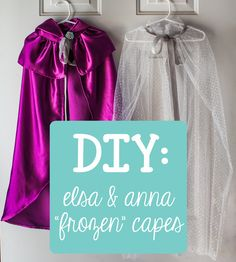 "Frozen~DIY : Elsa & Anna Costume Capes from ""Frozen"""