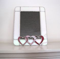 Hugs and Kisses 5 x 7 Stained Glass Valentine Frame by hobbymakers, $28.00