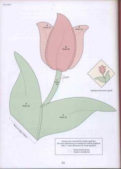 Tulip appliqué pattern