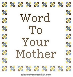 PDF: Word To Your Mother