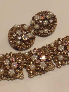 Vintage Florenza Bracelet and Earrings Set by GracesVintageGarden, $120.00