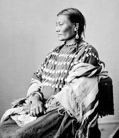 Ear of Corn, wife of Lone Wolf, Oglala 1872