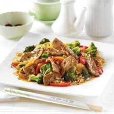Broccoli Beef Stir Fry (can be with rice or quinoa)