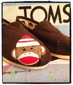 Custom Sock Monkey Toms Shoes