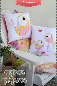 Cojines pájaros #yolohice #moda #peques
