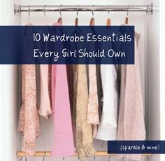 Key pieces every girl should have in her closet! This list has a great mix of classic and unique ideas to help you build a perfect wardrobe.