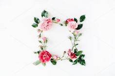 Floral frame with ro