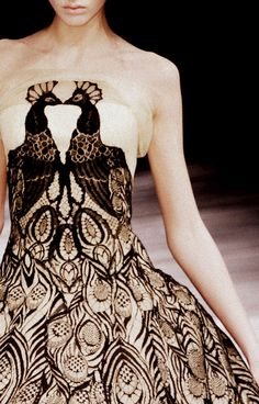 Alexander McQueen an old fave. This is never out of fashion.