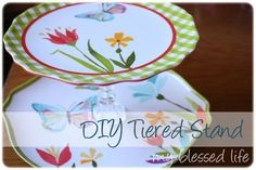 Tiered Tray DIY | My Blessed Life [easy display idea; post has links to other similar projects too]