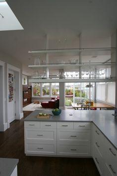 Open Shelving open shelves, architecture, kitchen layouts, modern kitchens, kitchen remodel, san francisco, white cabinets, kitchen designs, open shelving
