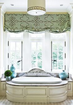 Love these window coverings