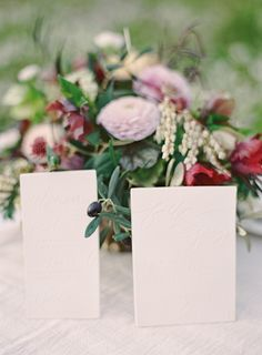Porcelain / Ceramic Wedding Stationery Suite- invitations and menus by Paloma's Nest; Photography by Jen Huang