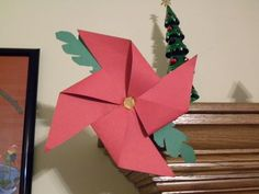 Poinsettia Pinwheel Craft