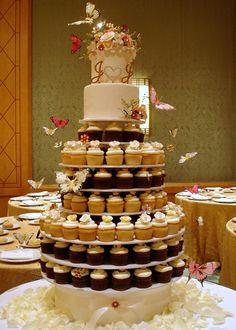 pretty wedding cupcake tower!