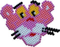Pink panther /  Perler Beads - Hama perlen - Bügelperlen