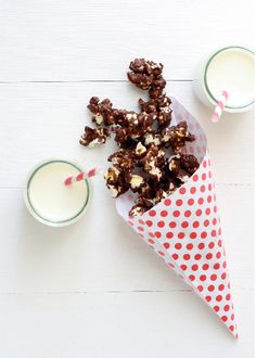 ... chocolate pop corn ...