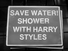 Save water shower with Harry Styles