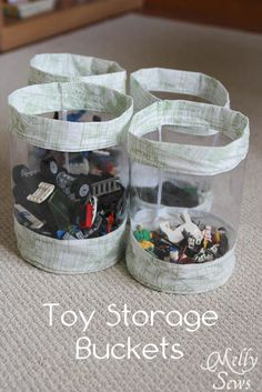 Fabric Storage Bucket Tutorial - Stash your toys -  Melly Sews Free pattern