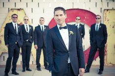 dapper, retro-inspired groom and groomsmen looks