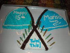 Color guard themed cake.