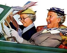 norman rockwell, road trips, map, garage sales, the road, friend, golden age, 30 years, 15 years