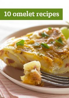 10 Omelet Recipes -- Omelet recipes are easy and can be customized to the ingredients you have on hand--and are perfect for those mornings when you're short on time.