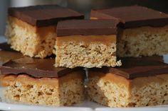 Chocolate Caramel Peanut Butter Rice Crispy Treats