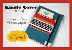 kindl cover, sew, kindl case, tutorials, crafti, creat, diy, cover tutori, kindle cover