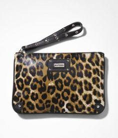 Leopard wristlet from Express