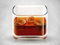 Whiskey Mobile App Icon by Konstantin Datz. 25 Clever Mobile App Icons. #mobile #design #app #icons #inspiration