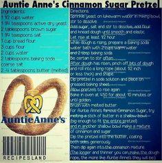 Auntie Ann's pretzels