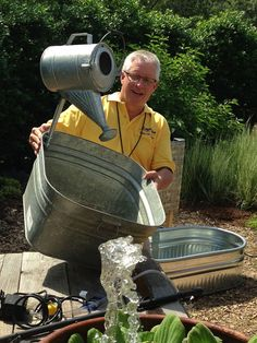 Laguna Water Features Fun With P. Allen Smith and Chris Their by @Susan Fox