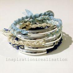 DIY Chan Luu inspired tube macrame bracelets