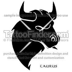 Taurus Glare tattoo design by Ivan Keel