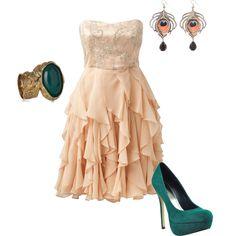 bridesmaid dress, waterfal dress, beauti dress, fashion, waterfalls, formal dresses, cloth, style, polyvore