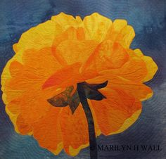 Luminesence by Marilyn Wall | fiber art | floral art quilt