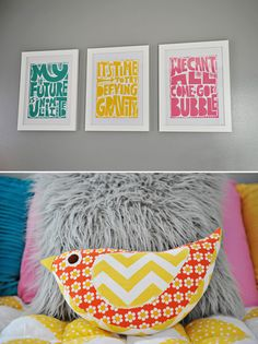 """""""Wicked"""" quotes printed for a child's room?  I think so."""
