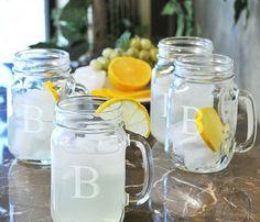 monogrammed mason jars :)