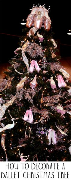For those who love ballet, a ballet themed Christmas tree might be perfect for you.  Here are the steps for how to create a ballet themed Christmas tree.