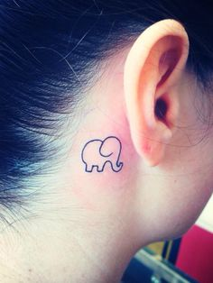 New tattoo .. I love it so much .. Cute little fat elephant .. It means good luck cause the trunk is pointing up .. Elephants also symbolize strength and power and the ability to break down barriers .. It will always remind me that I can accomplish anything Tattoo Ideas, Little Elephant Tattoo, Tattoos Piercing, New Tattoos