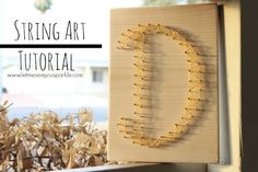 February 17, 2014 - String Art craft idea, pant parti, party crafts, string art, craft tutorials, diy idea, crafti pant, art tutorials, crafti inspir