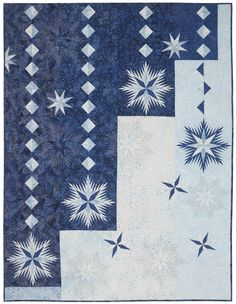 "Ice Crystals, 64 x 84"", is a new Simple Elements quilt design by Judy Niemeyer - June 2014"